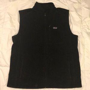 Men's Black Patagonia Synchilla Fleece Vest